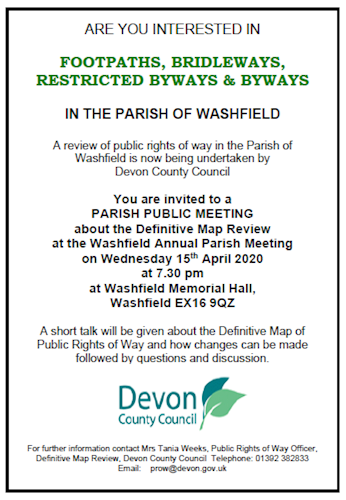 Public Rights of Way Meeting Poster