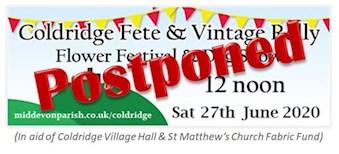 Coldridge Village Fete 2020 Logo - POSTPONED